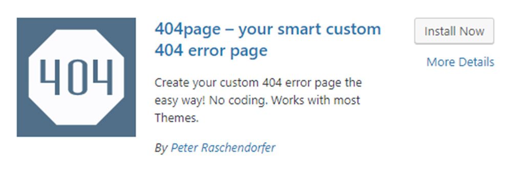 Custom 404 Error Page Plugin