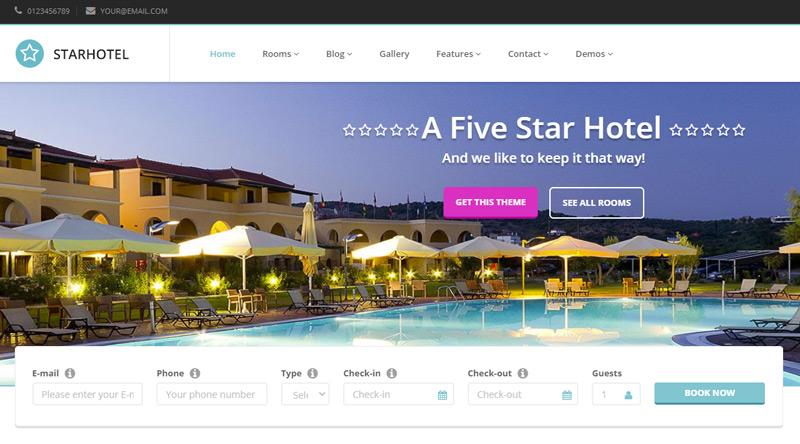Starhotel WordPress Theme