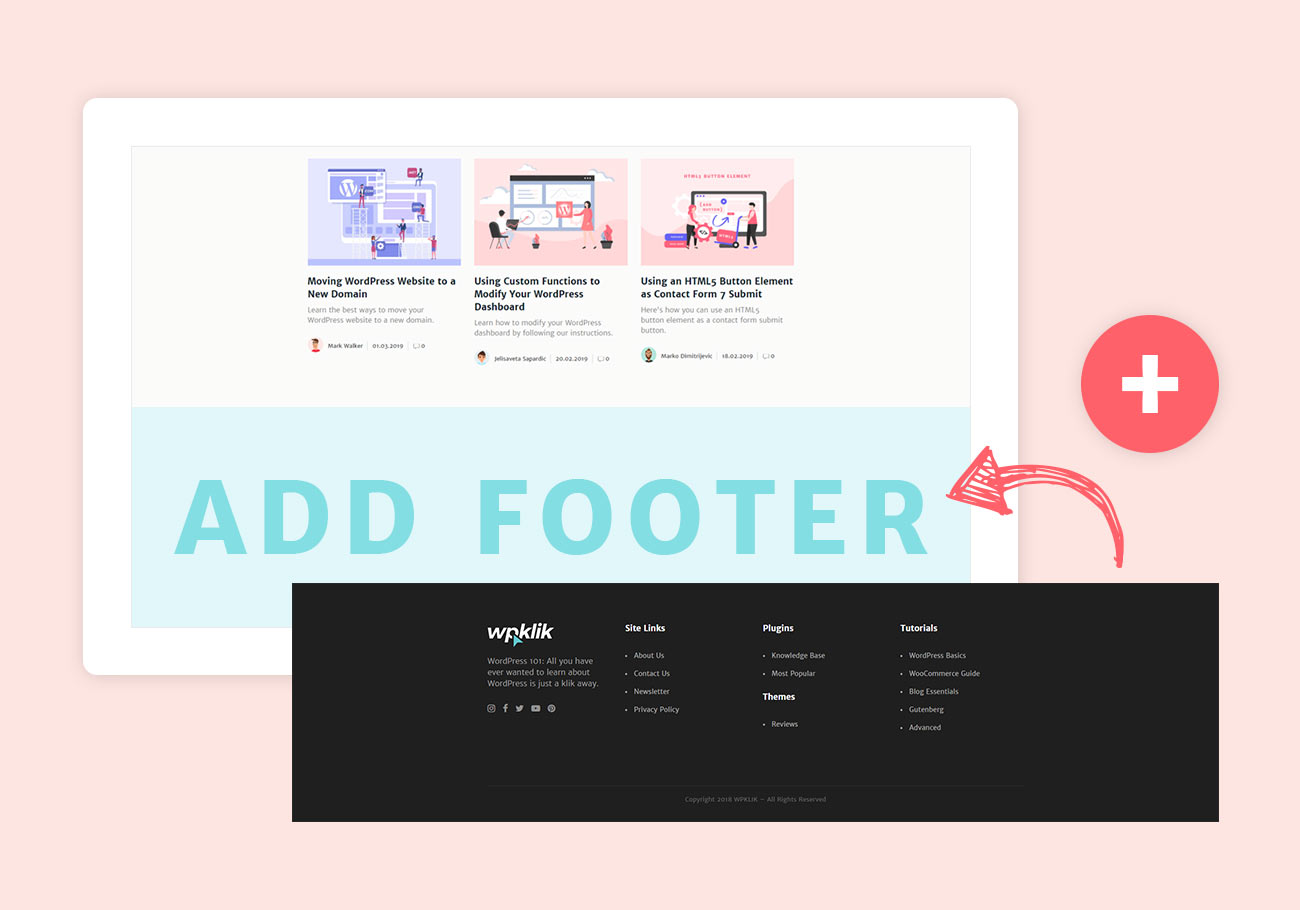 What is footer and how to add it in WordPress