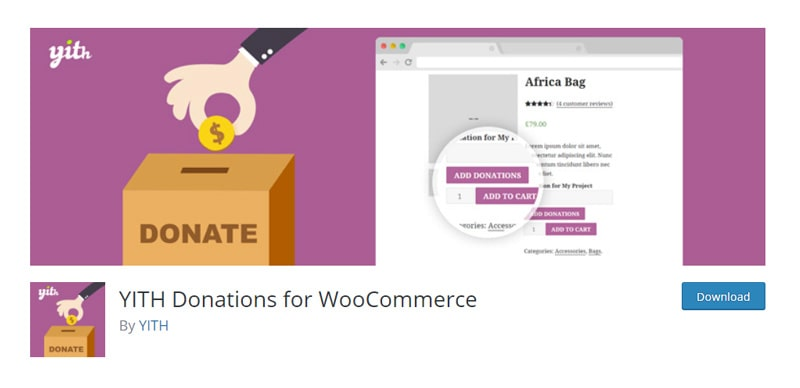 YITH Donations for WooCommerce plugin