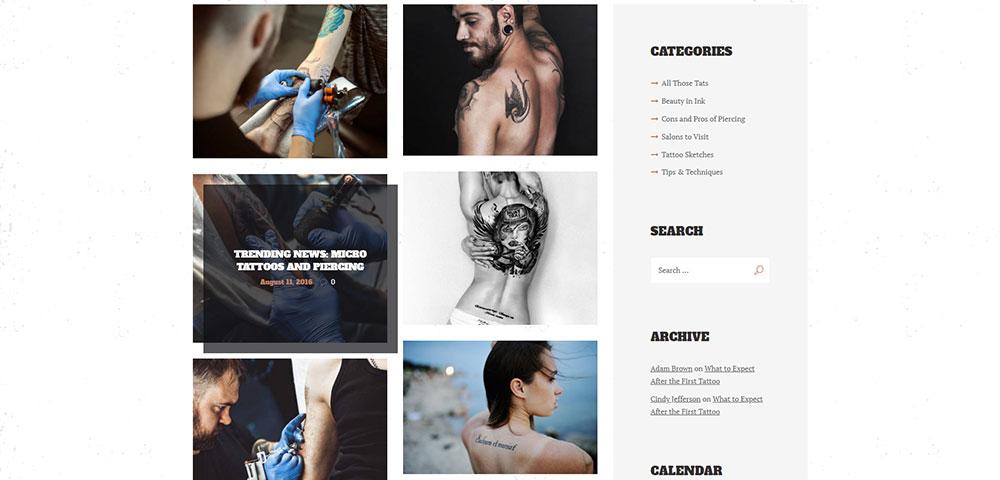 Ancora Blog Portfolio Page