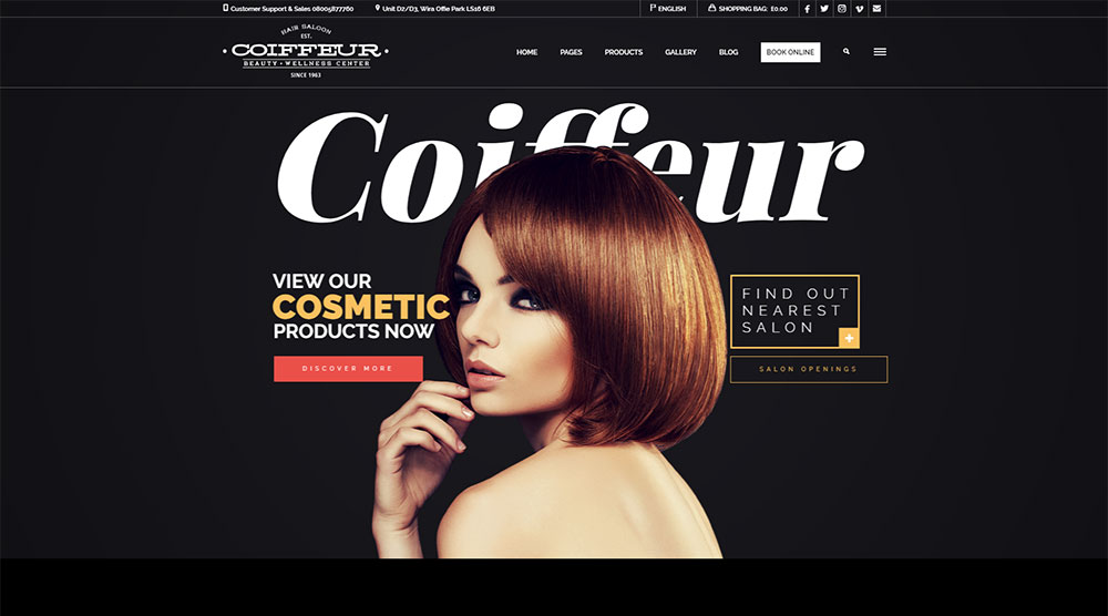 Coiffeur Wordpress Theme