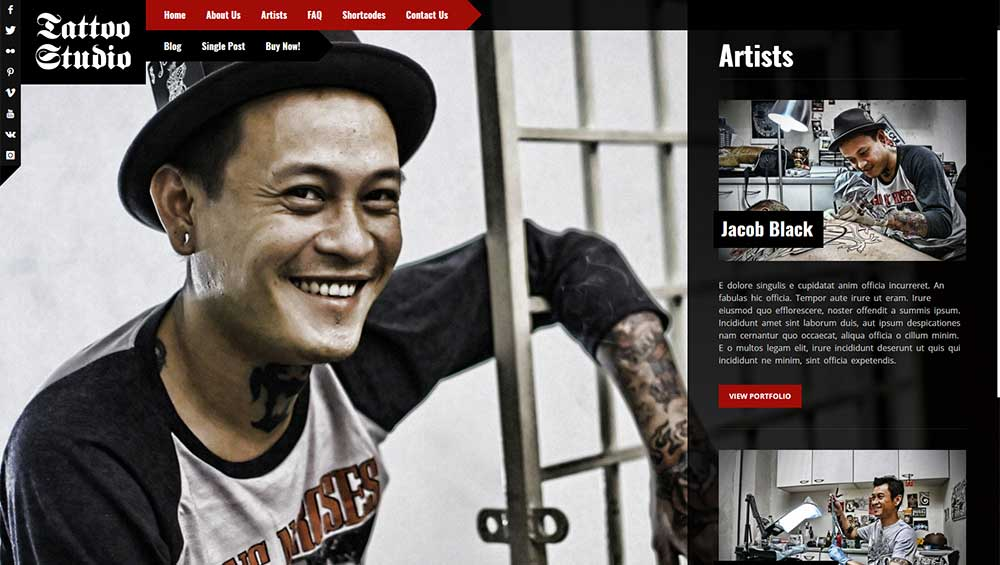 Tattoo Studio Theme