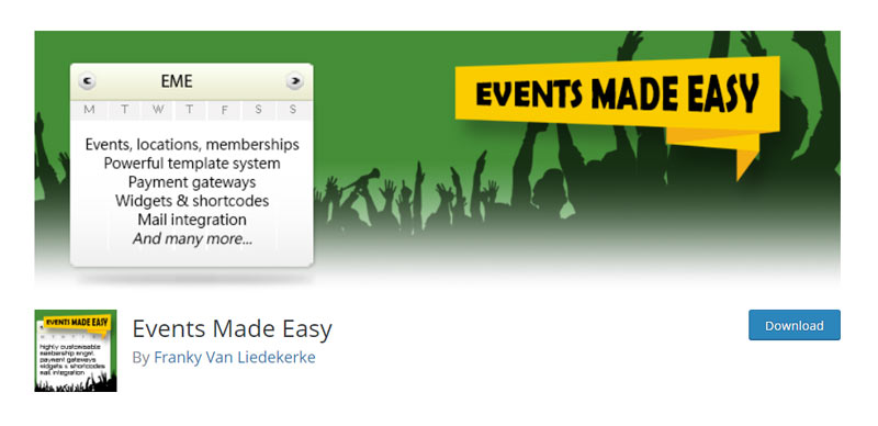 Events Made Easy WordPress Plugin