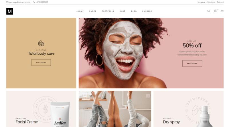 Marra Cosmetics WordPress Themes