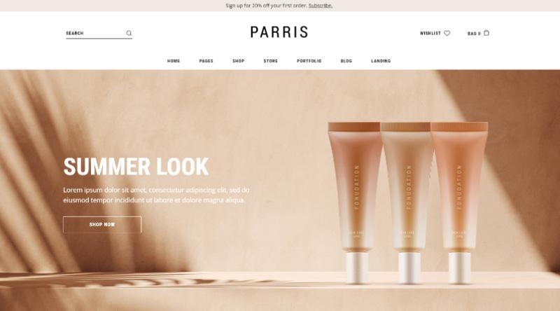 Parris WordPress Theme