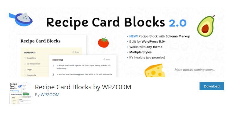 Recipe Card Blocks by WPZOOM