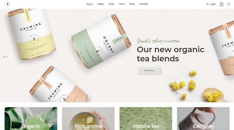 Sante Tea Shop WordPress Theme