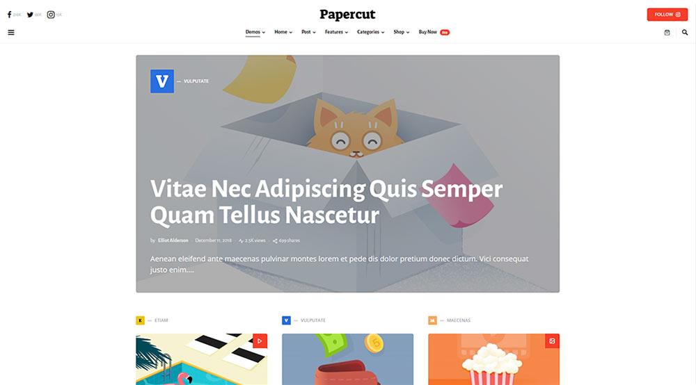 Squaretype WordPress Theme