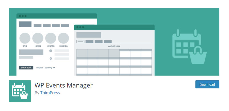 WP Events Manager WordPress Plugin