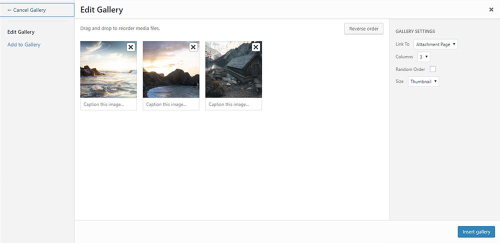 Add Your WordPress Gallery