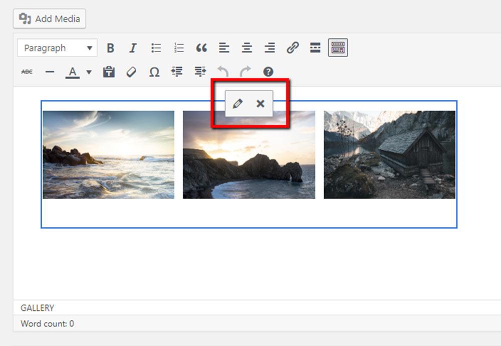 Edit WordPress Gallery