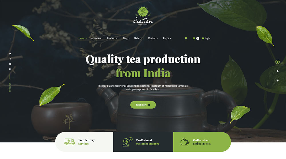 Chaitan WordPress Theme
