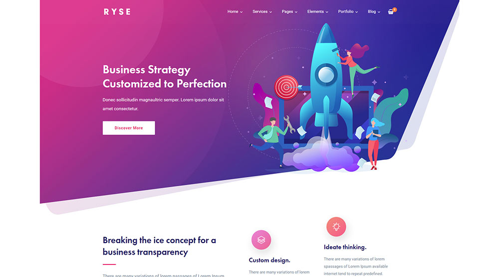 Ryse WordPress Theme