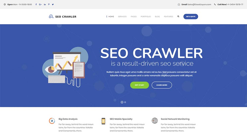 SEO Crawler Theme