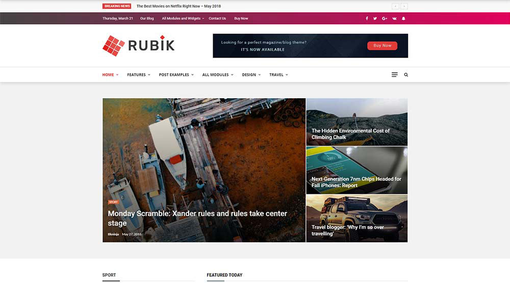 Rubik WordPress Theme