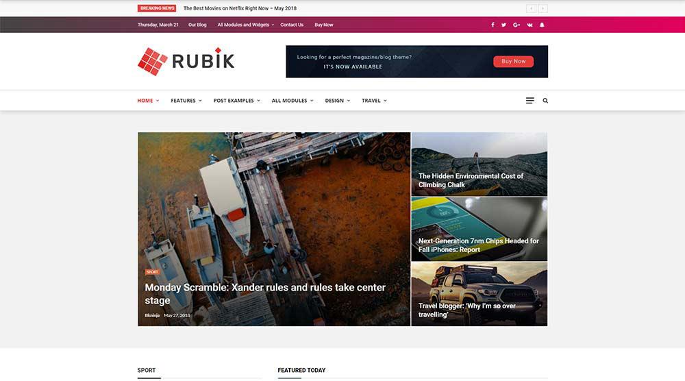 Rubik WordPress Theme
