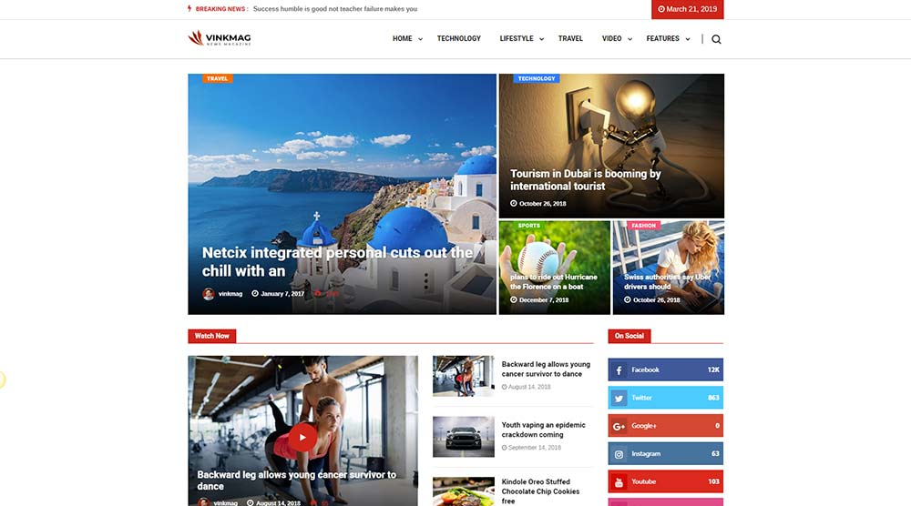Vinkmag WordPress Theme