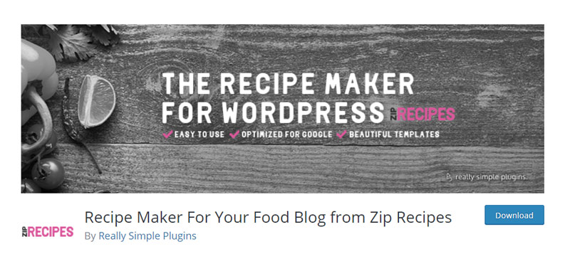 Recipe Cards For Your Food Blog from Zip Recipes