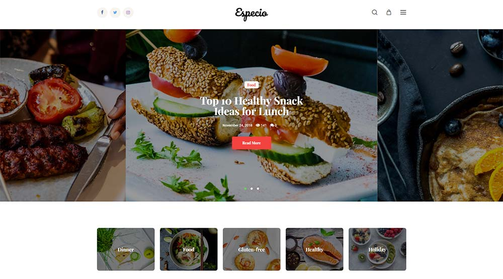 Especio WordPress Theme