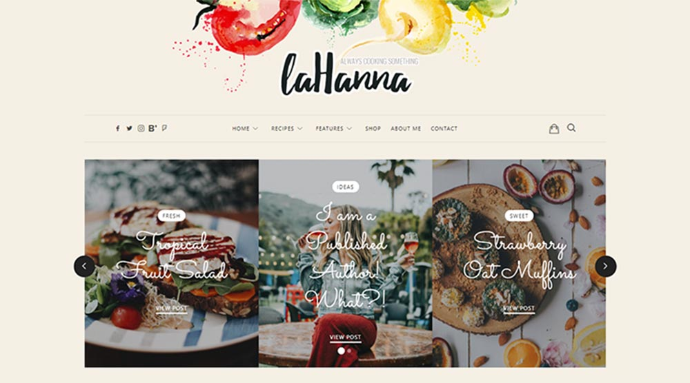 La Hanna WordPress Theme