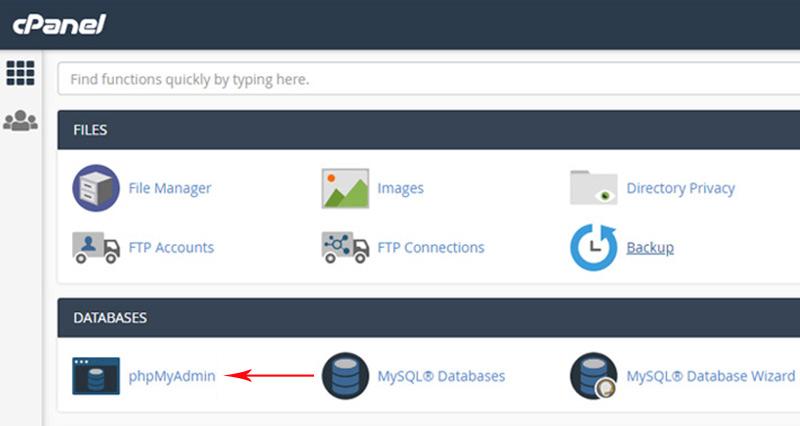 Change WordPress Username Using phpMyAdmin
