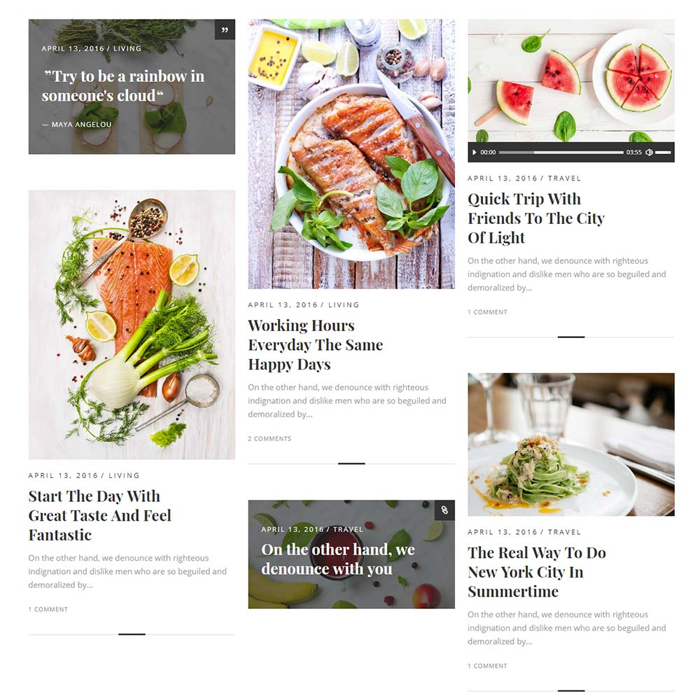 Savory Theme for Food Bloggers