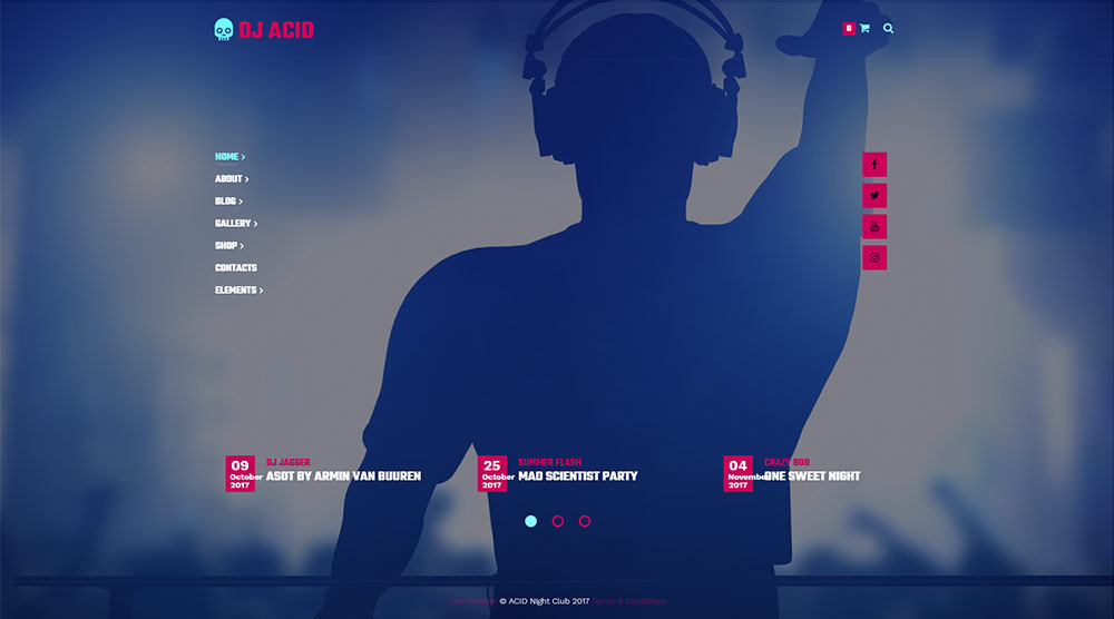 Acidum Music WordPress Theme