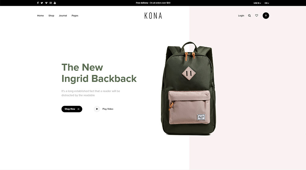 Kona WordPress Theme