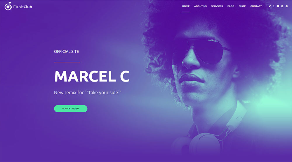 Music Club Music WordPress Theme