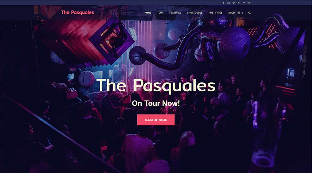 The Pasquales Music WordPress Theme