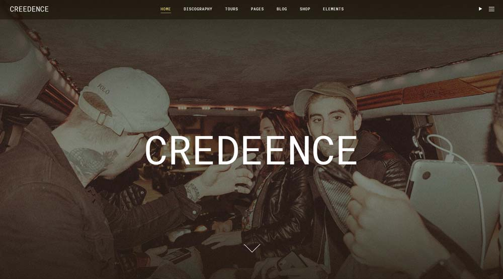 Creedence Music WordPress Theme
