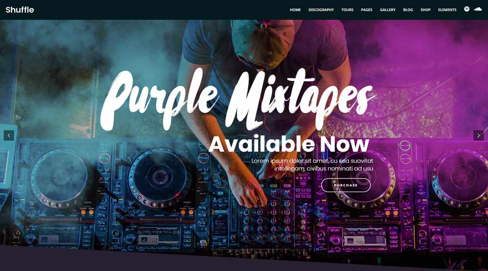 Shuffle Music WordPress Theme