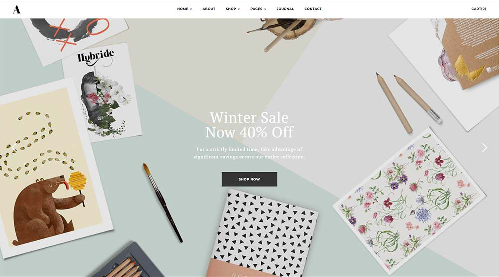 Artday WordPress Theme with Slider