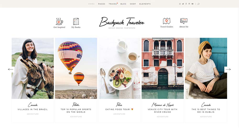 Backpack Traveler WordPress Theme