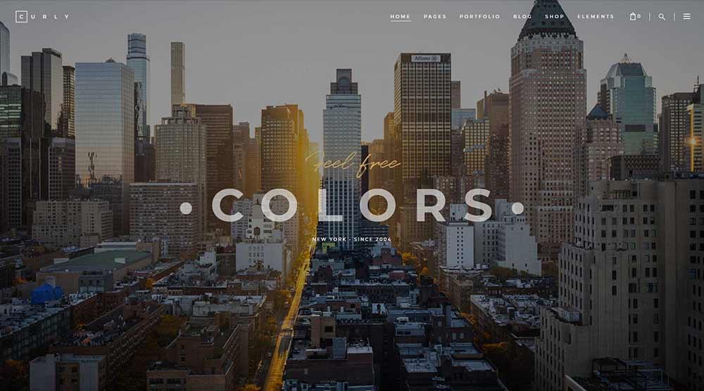 Curly WordPress Theme with Slider
