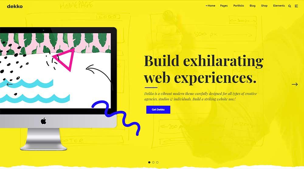 Dekko WordPress Theme with Slider
