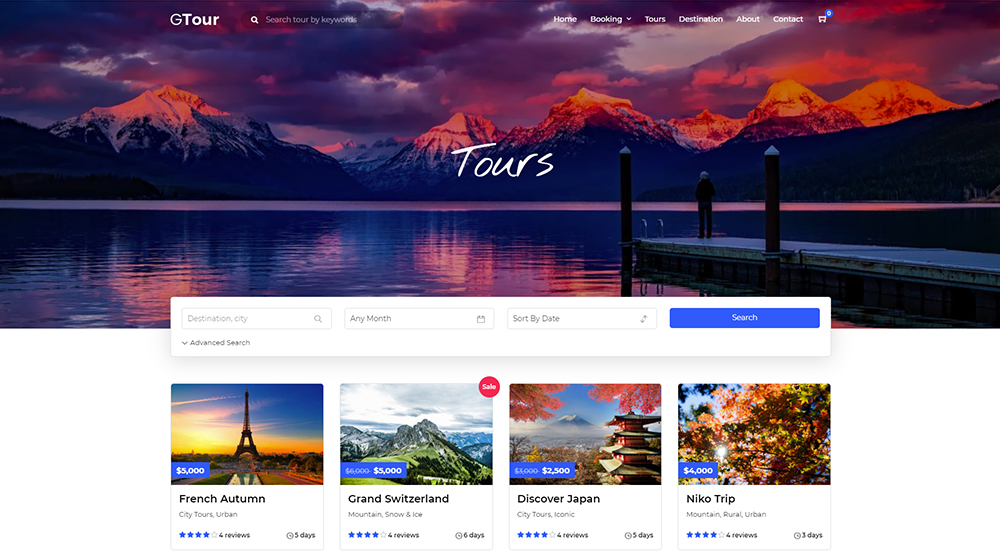 Grand Tour WordPress Theme