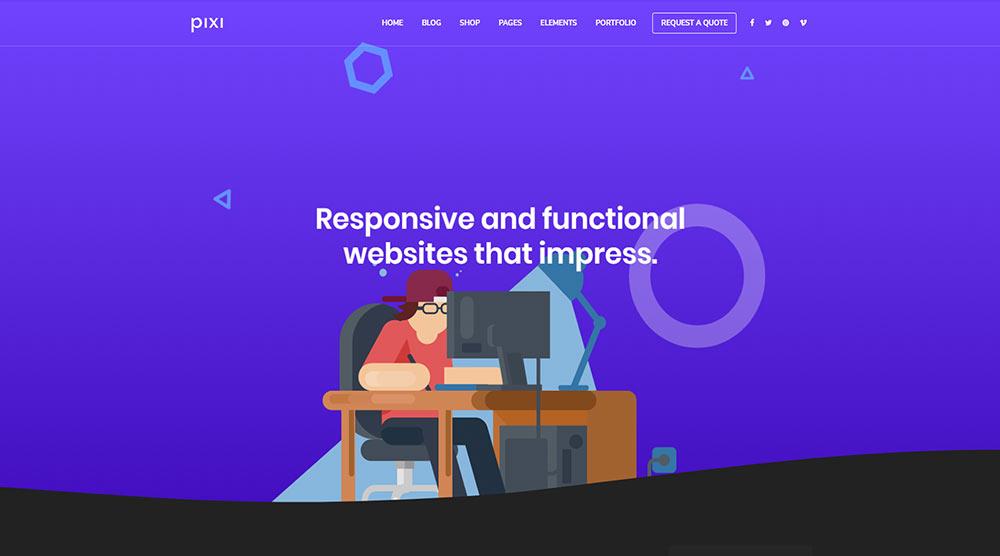 Pixi WordPress Theme with Slider