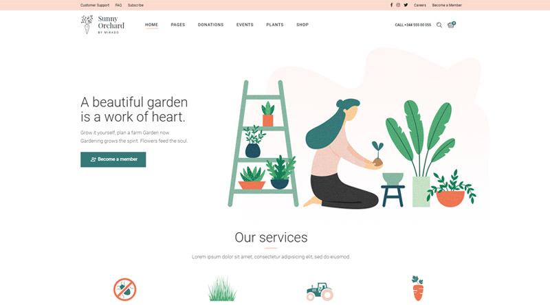 Sunny Orchard WordPress Theme