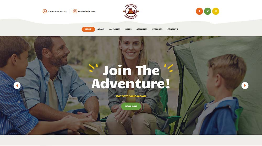The Mounty WordPress Theme with Slider