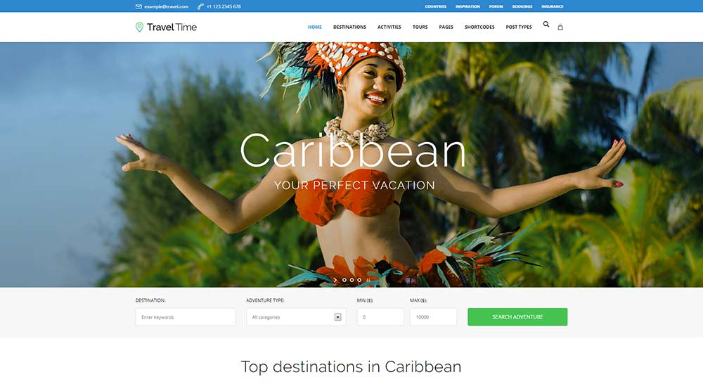 Travel Time WordPress Theme