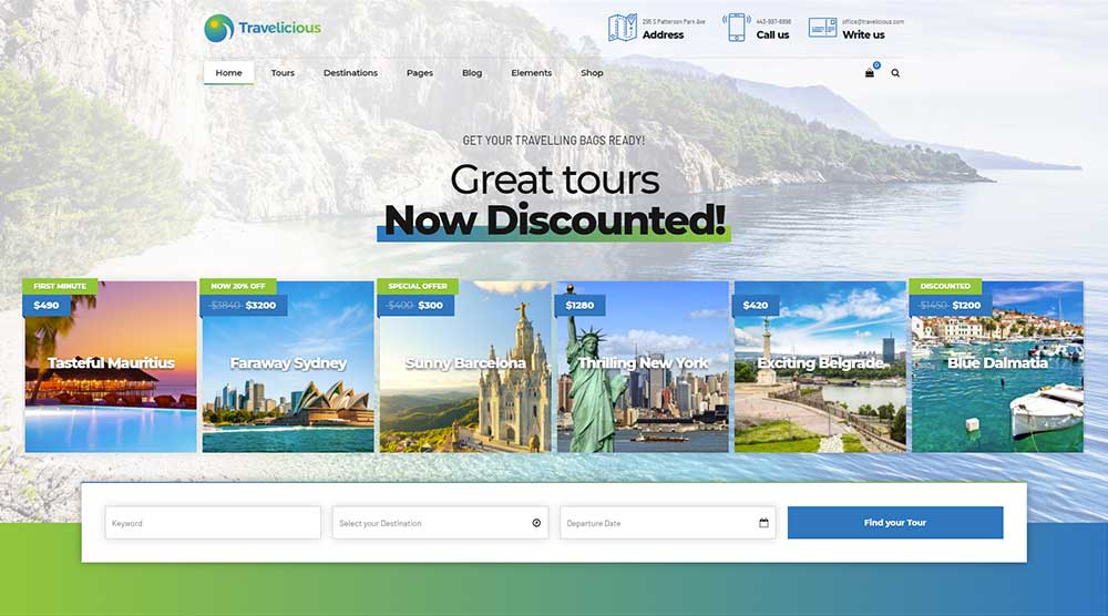 Travelicious WordPress Theme