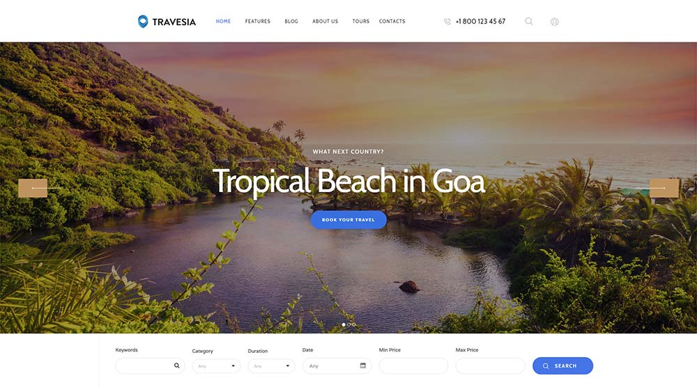 Travesia WordPress Theme