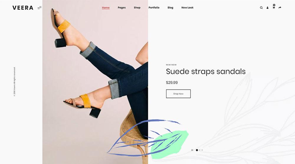 Veera WordPress Theme with Slider