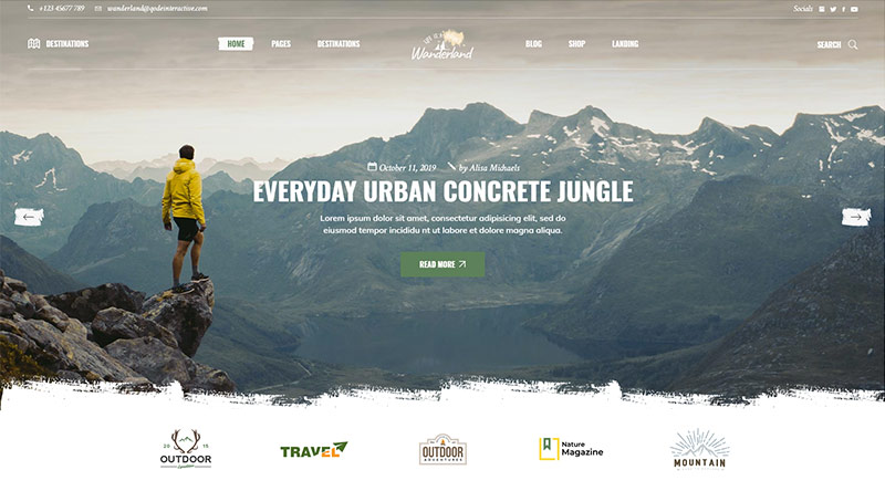 Wanderland WordPress Theme