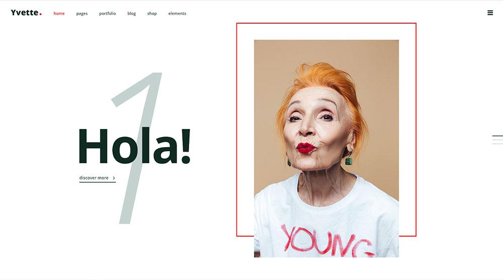 Yvette WordPress Theme with Slider
