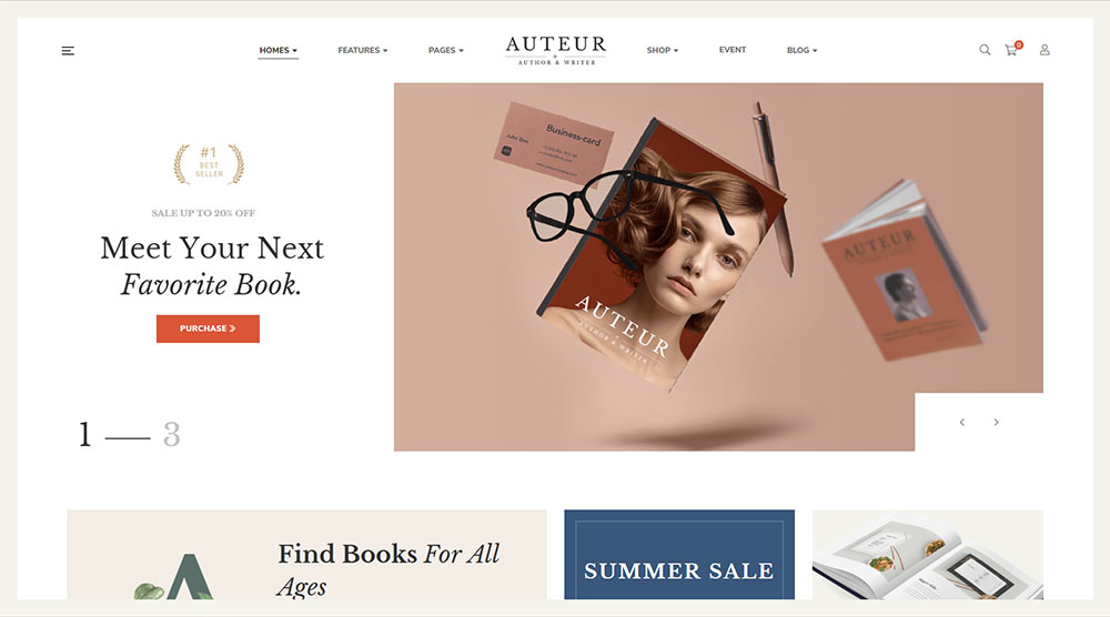 Auteur WordPress Theme