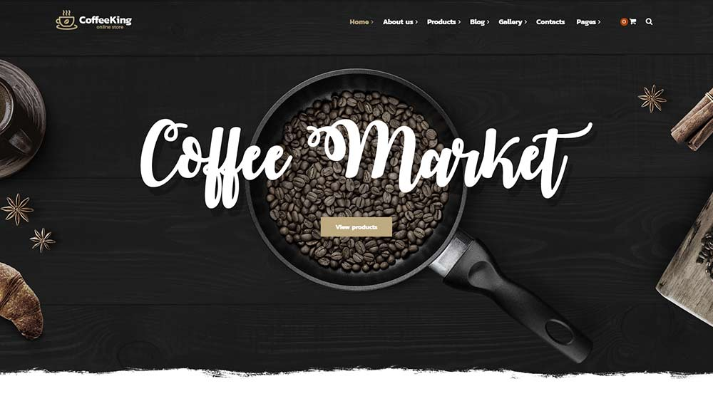 Coffee King WordPress Theme
