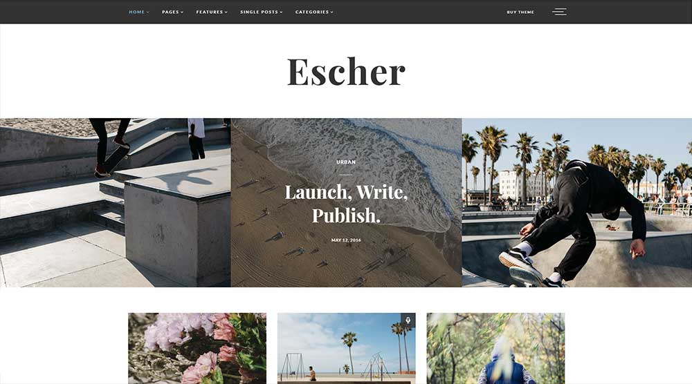 Escher WordPress Theme